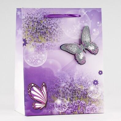 Dárková taška motýli střední 3 ks