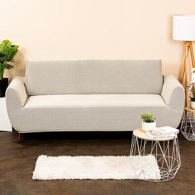 4home Multielastický poťah na sedaciu súpravu Comfort smetanová, 180 - 220 cm