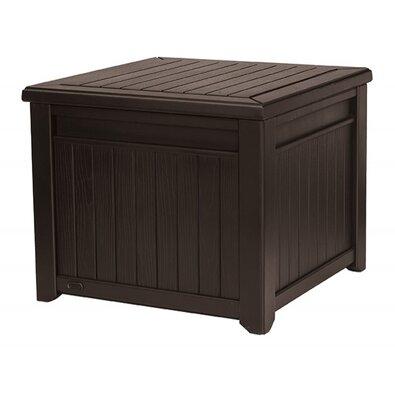 Keter Skrzynia ogrodowa do przechowywania Cube Wood brązowy, 208 l
