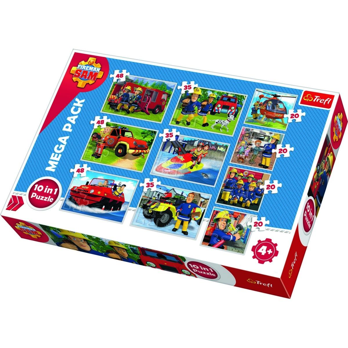 TREFL Puzzle Požárník Sam 10v1