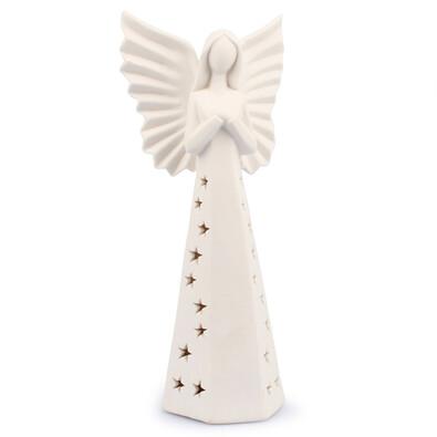 Svíticí LED Anděl