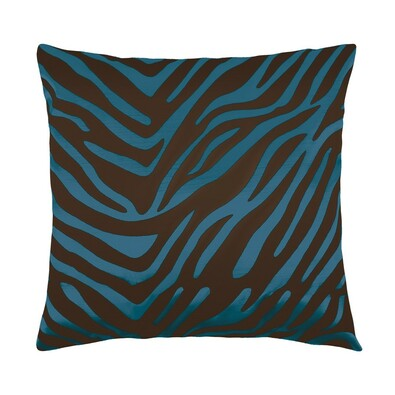 Leona kispárna zebra kék, 45 x 45 cm
