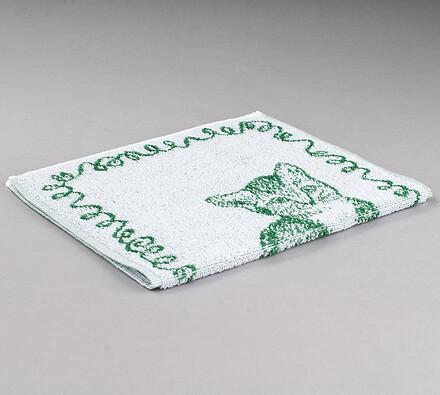 Dětský froté ručník Koťátko, zelený, 50 x 30 cm