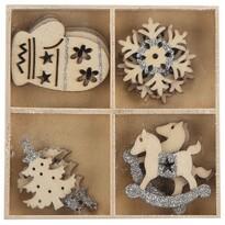 Set decorațiuni de Crăciun Altom Mix 4, 16 buc., gri