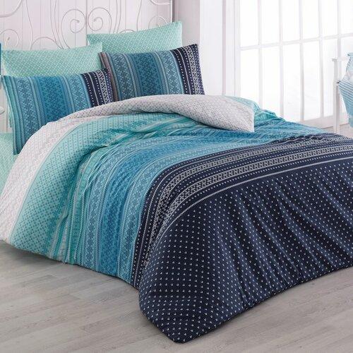 Bedtex obliečky bavlna Summer Modré, 220 x 200 cm, 2 ks 70 x 90 cm