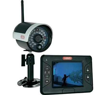 """Bezdrátová venkovní kamera, 2,4 GHz a TFT monitor 3,5""""ABUS"""