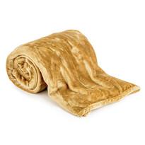 Koc XXL / Narzuta na łóżko miodowa, 200 x 220 cm