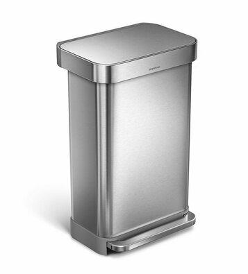 Simplehuman Coș de gunoi cu pedală 45 l, argintiu