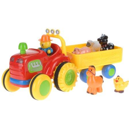 Koopman traktor pótkocsival, 38 cm