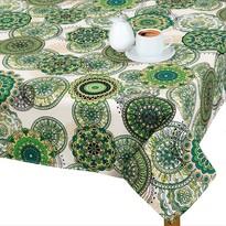 Față de masă Adéla Mandala verde, 120 x 140 cm