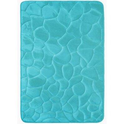 Kövek fürdőszobaszőnyeg memóriahabbal türkiz, 40 x 50 cm