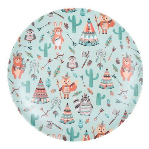 Bambusový talíř Indian 25 cm, zelená