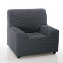 Pokrowiec multielastyczny na fotel Sada niebieski