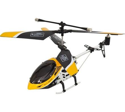 Vnitřní tříkanálový 19 cm vrtulník - žlutý, Buddy , bílá + žlutá