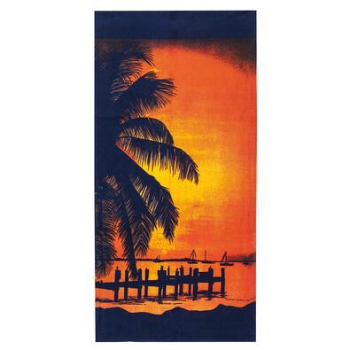 4Home Plážová osuška Východ slunce, 75 x 150 cm