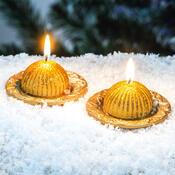 Vánoční sada zlatých svíček