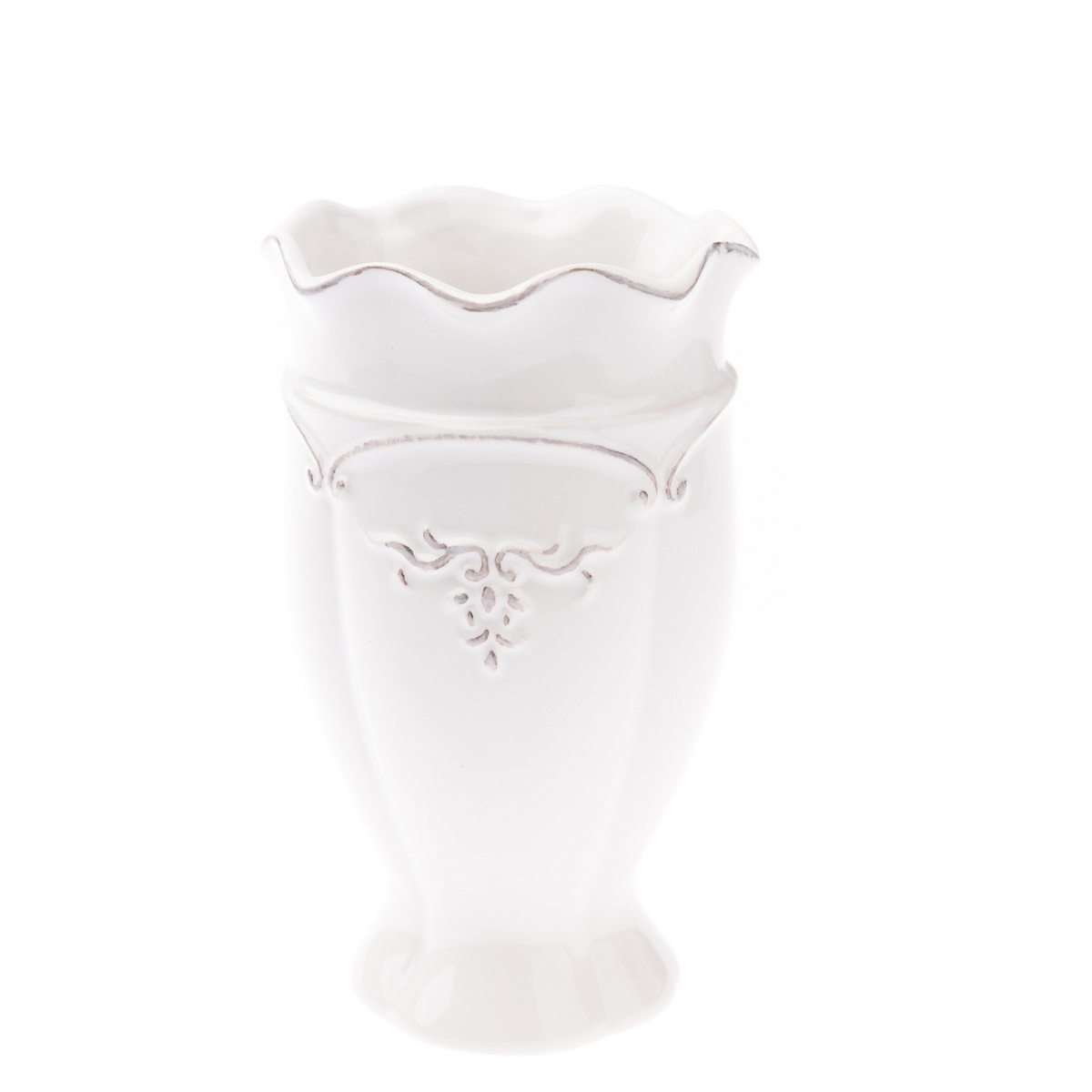 Wazon ceramiczny Vallada biały, 11 x 18 x 11 cm