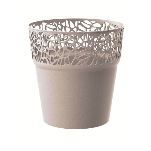 Prosperplast Obal na květináč Naturo kávová, pr. 14,5 cm
