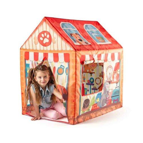 Woody Dětský stan domeček Pet Shop, 95 x 72 x 102 cm