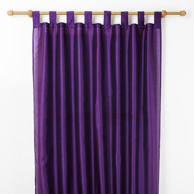 Závěs  FAUX SILK, 140 x 250 cm, fialová