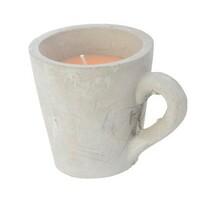 Dekoratívna sviečka Mug oranžová, 10,5 cm
