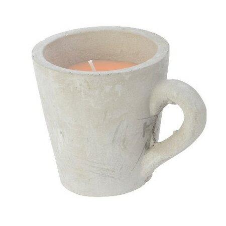 Dekorativní svíčka Mug oranžová, 10,5 cm