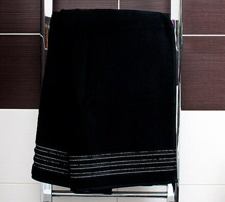 Osuška Cult De Luxe Vossen, 67 x 140 cm, černá