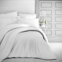 Kvalitex Stripe szatén ágynemű, fehér