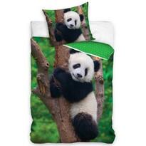Lenjerie de pat din bumbac pentru copii Ursulețul Panda, 140 x 200 cm, 70 x 90 cm
