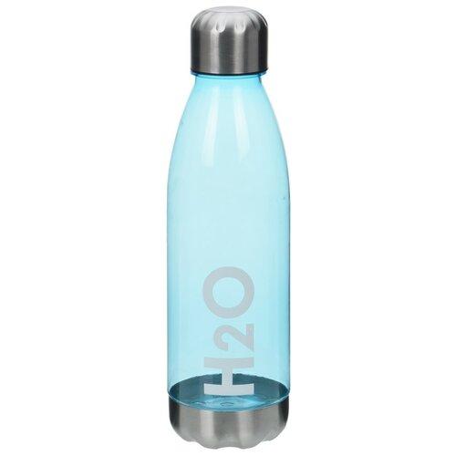 Športová fľaša s nerezovým viečkom 700 ml, modrá