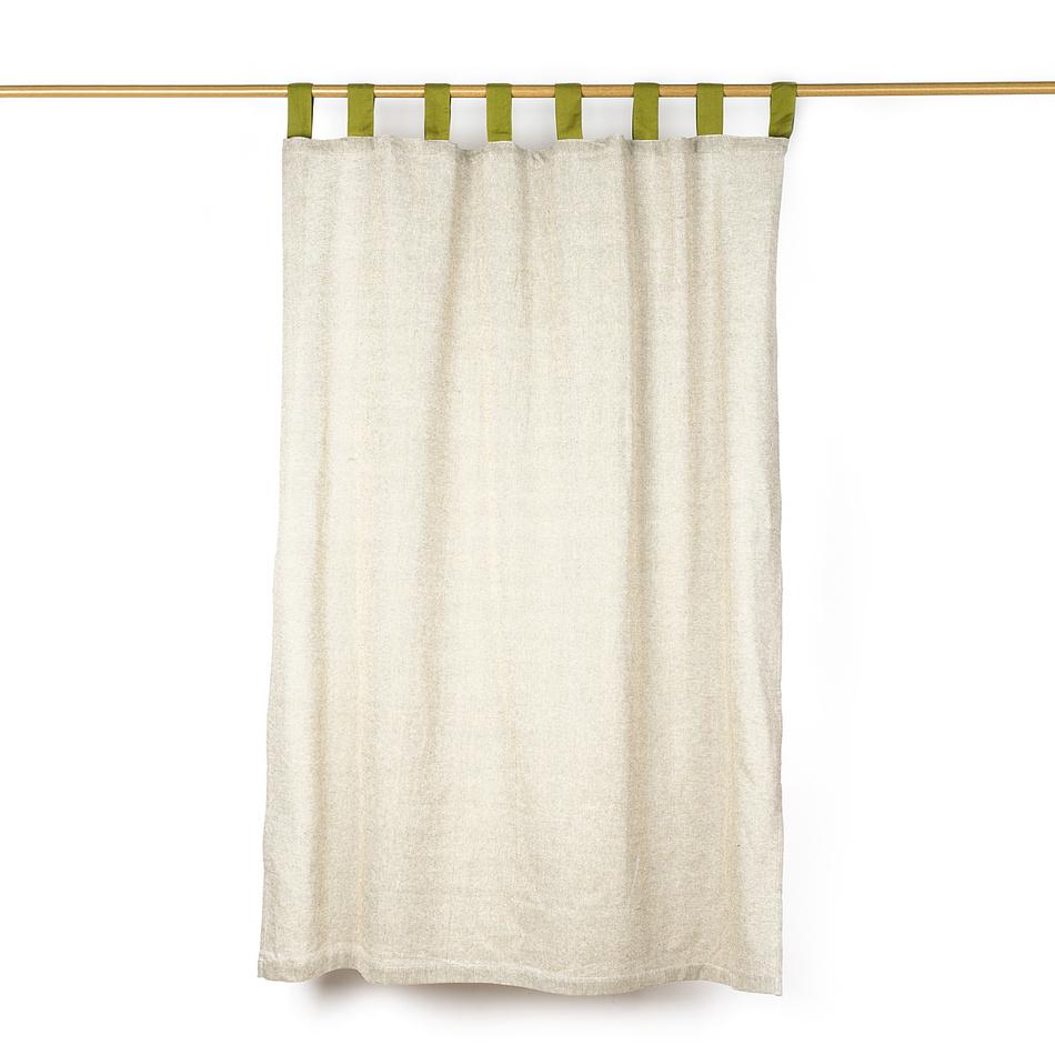 Jahu Záves režný zelená, 140 x 160 cm