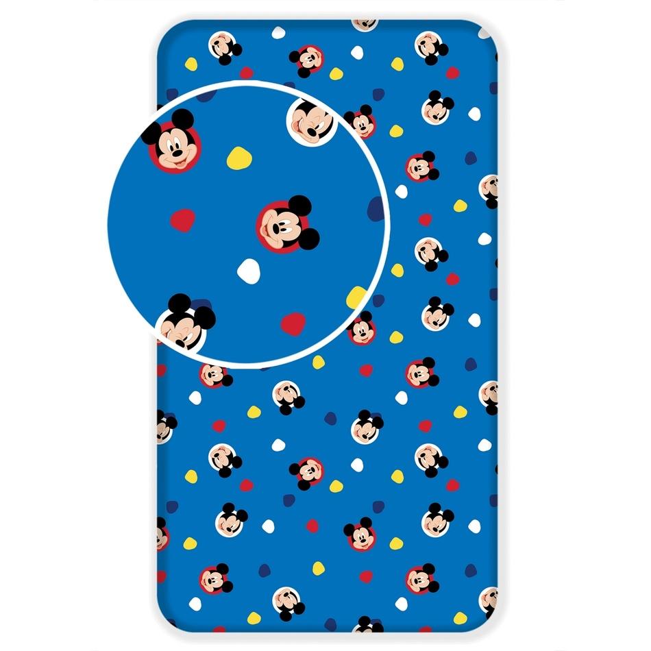 Jerry Fabrics Detské bavlnené prestieradlo Mickey 04, 90 x 200 cm