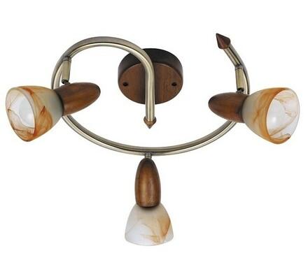 Stropní svítidlo Rabalux Rustic 6543, 3 světla, hnědá, pr. 33 x 21 cm