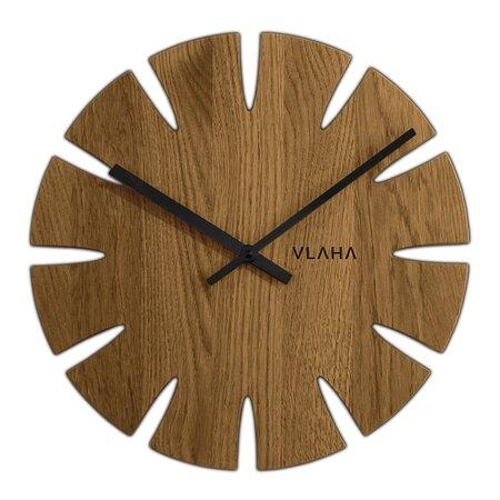 Vlaha VCT1015 Dubové hodiny pr. 32,5 cm, čierna