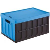 Tontarelli Rozkládací přepravka s víkem 46 l, černá/modrá