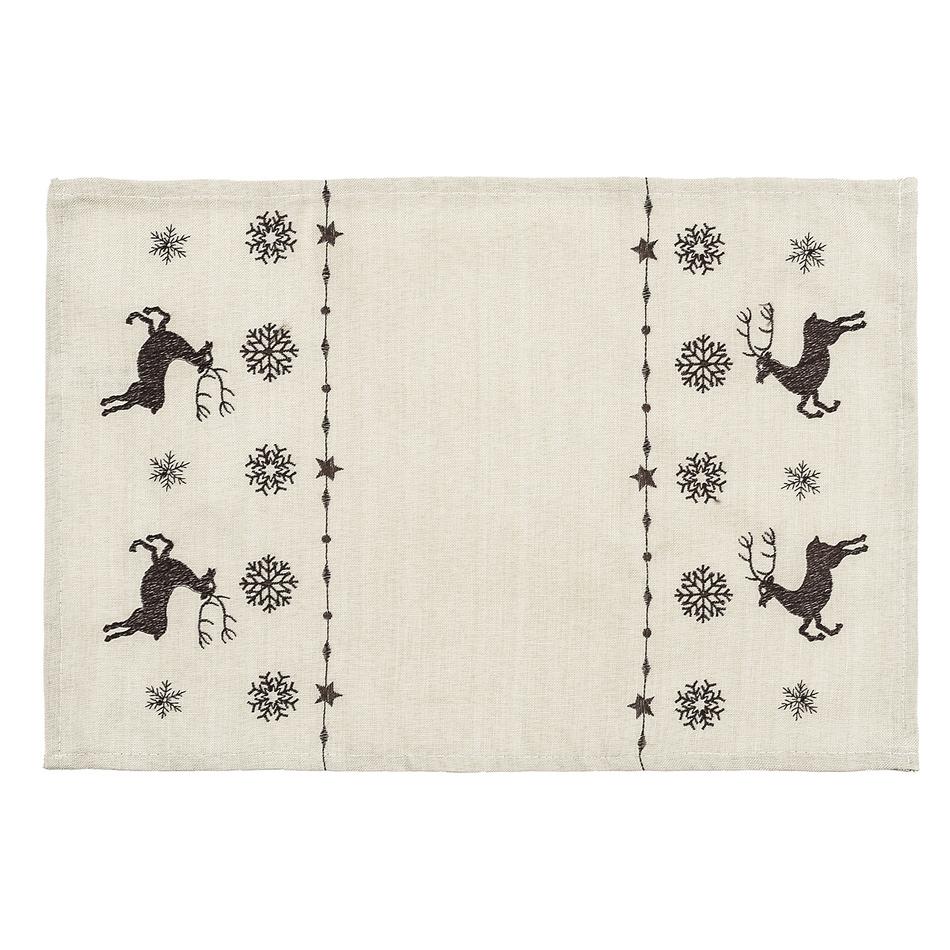 Forbyt Vianočné prestieranie soby béžová, 30 x 45 cm