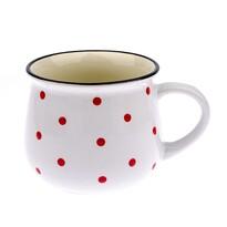 Kubek ceramiczny Dots 770 ml, biały