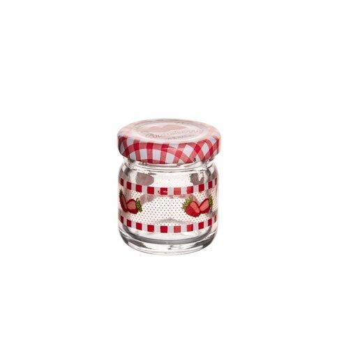 Orion Sada zaváracích pohárov s viečkom Jahoda 0,04 l, 8 ks