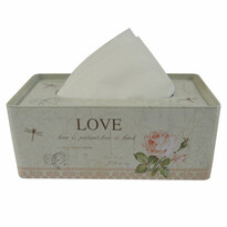 Love fém zsebkendőtartó doboz, 21,5 cm