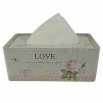 Pojemnik blaszany na chusteczki Love, 21,5 cm