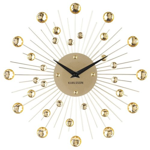 Karlsson 4860GD Designové nástenné hodiny, 30 cm