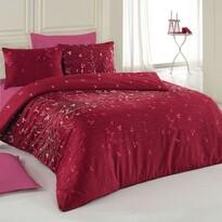 Lenjerie de pat, din bumbac, Delux Carla, vişiniu