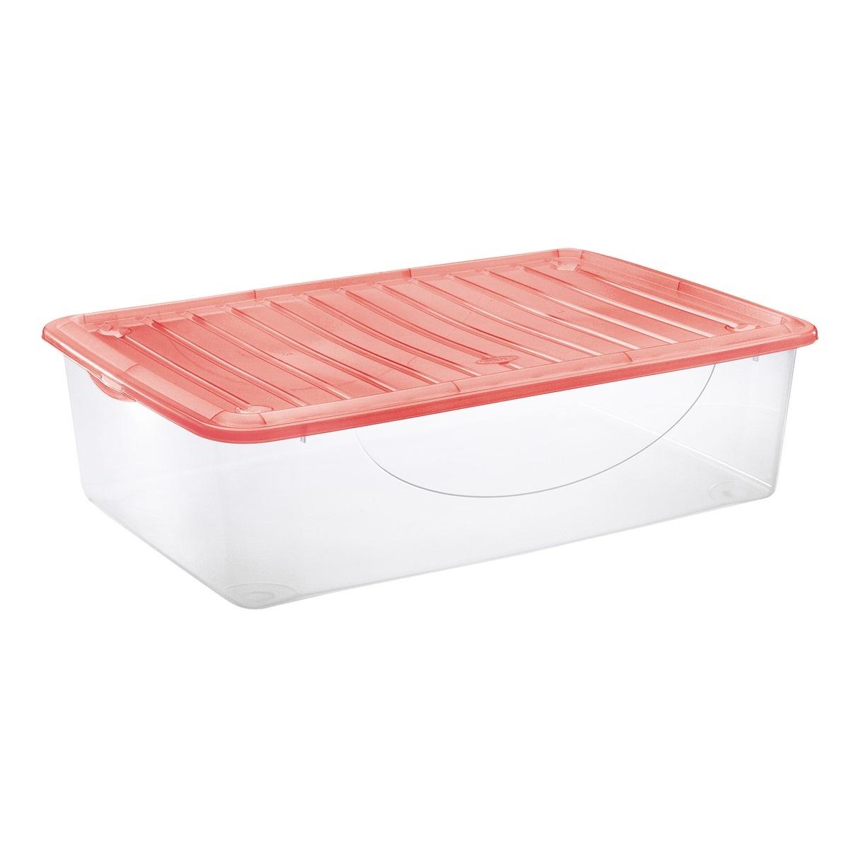 Tontarelli DODO STOCK-BOX s víkem 27L transparent/červená