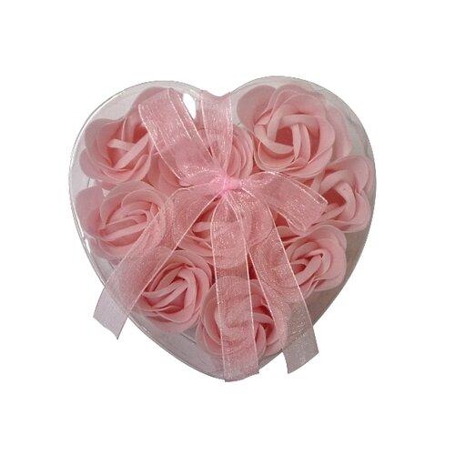 Mydlové květy, 9 ks, ružová