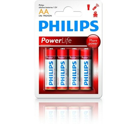 Philips Power Life AA 1.5 V alkalické baterie 4 ks