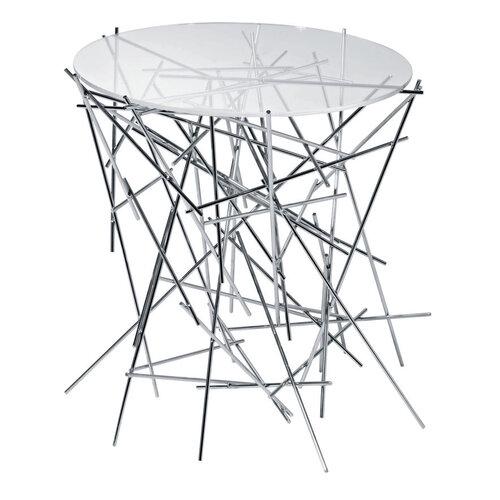 Alessi Blow Up stolík 44 x 45 cm, strieborný