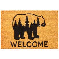 Welcome Bear kókusz lábtörlő, 40 x 70 cm