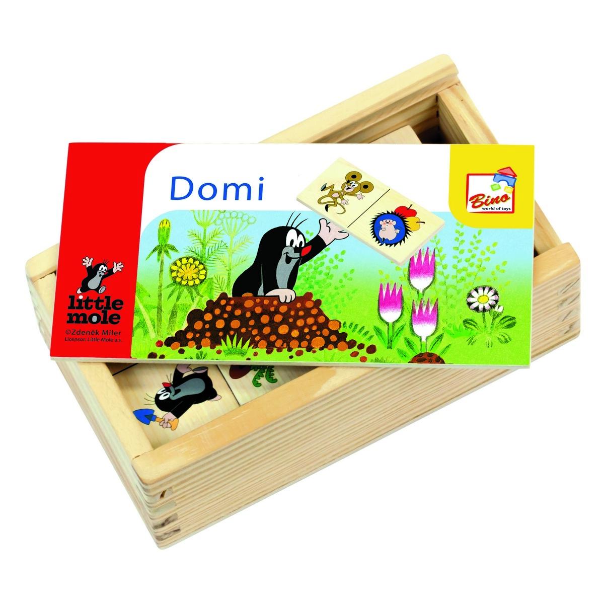 Obrázkové domino krtek, 28 dílků