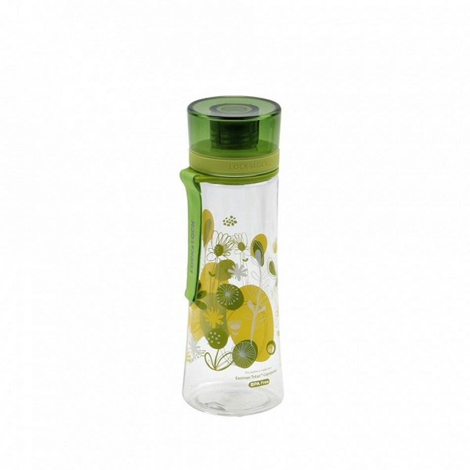 Sportovní láhev motiv květy, 480 ml LOCK&LOCK,