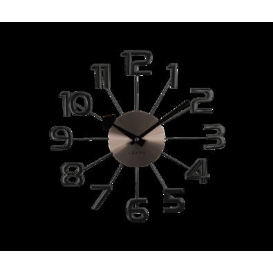 Nástěnné hodiny Lavvu Design Numerals antracitová, pr. 37 cm